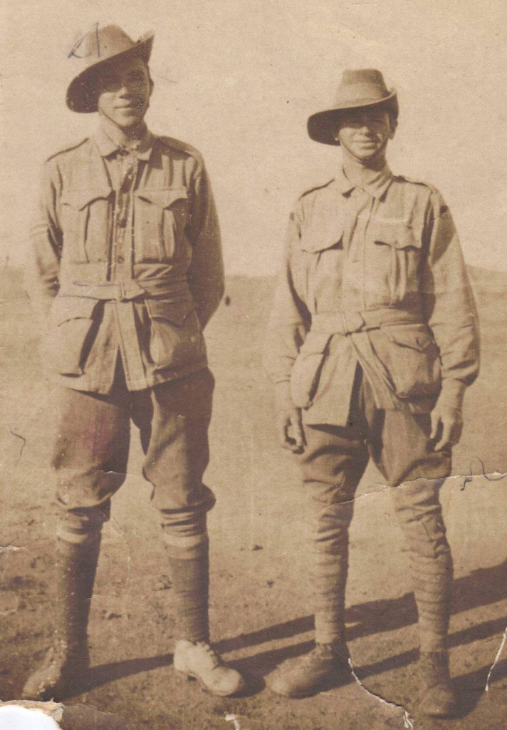 Left: 2nd Lieutenant James (Jimmy) Balfour Harcus Taylor, Right: William (Bill) Alexander George Taylor