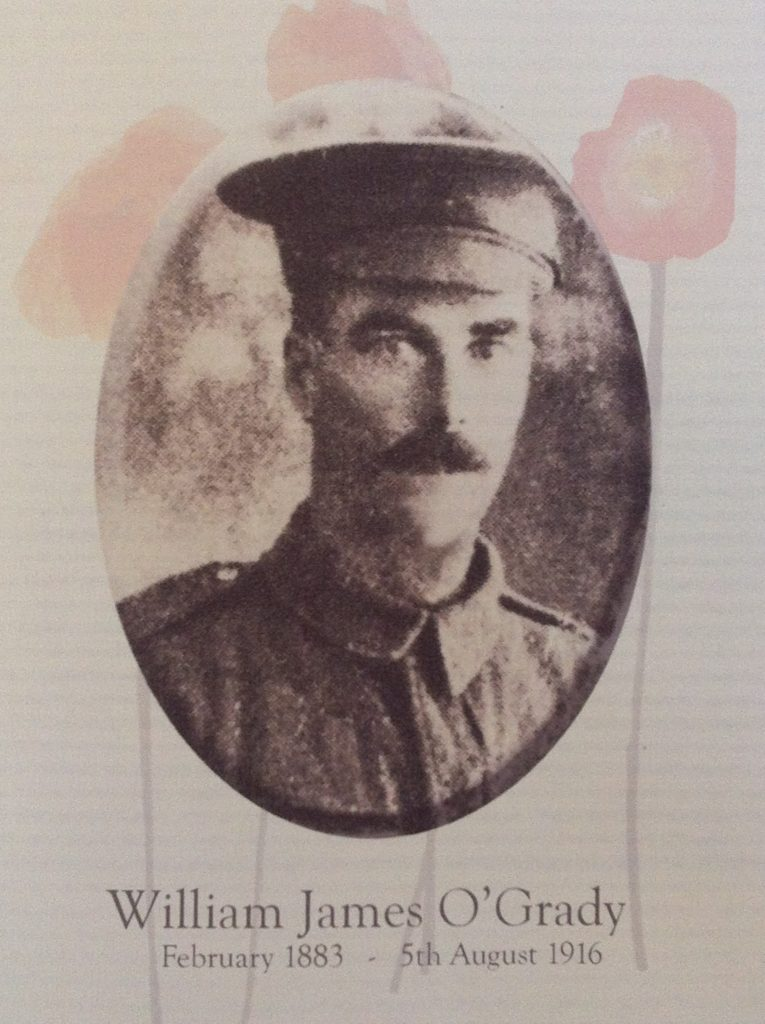 Private William (Bill) James O'Grady - 25th Battalion - KIA at Pozieres 5 August 1916