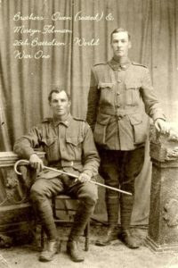 Private Owen Stanley Tolman (seated), Private Mostyn Edward Tolman 26th Battalion