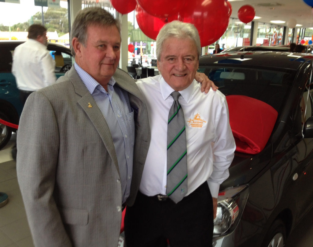 Suzuki Australia continued sponsorship is all due to the long standing friendship with Tony Devers pictured here chatting with Mike Lee